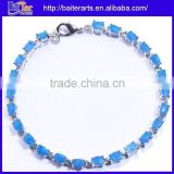 Fashion Hot Sell Women's Synthetic Fire Blue Opal Bracelet Jewelry
