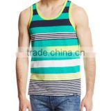 Wholesale custom lycra cotton bodybuilding gym wear for men/running singlet/stringer tank top OEM service