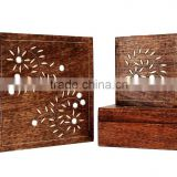Store Indya Wooden Set of 3 Keepsake Storage Boxes Jewelry Trinket Chest Organizers Multipurpose with Mirror Inlay
