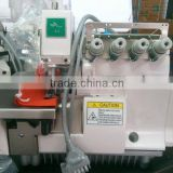 Direct Drive Overlock Sewing Machine with Energy Saving Servo Motor with Needle Positioning