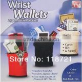 Hot-New design Wrist Wallet- Fleece Zippered Wrist Pouches Four colors