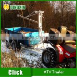 Tow behind trailer for ATV