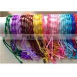 hot selling Multi-Colour promotion gift thread cross knotted twine Chram Bracelet                                                                         Quality Choice