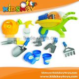 2015 New Summer beach toys Garden Series trolley cart toy plastic watering can garden tool beach toys