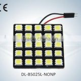 LED Auto Light Dome Lamp No Polarity 25SMD 5050 with CE