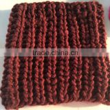 Women's Fat Acrylic Rib Knitting Super Soft Chunky Round Scarf Neck Warmer