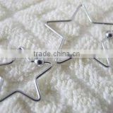 Wholesale Star Shaped BCR Stainless Steel BCR With 4mm Balls Unique Cheap BCR Body Jewlry