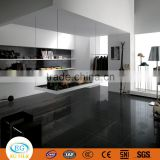 600*600*9.3mm Modern house design glossy dark black homogeneous polished porcelain floor tile