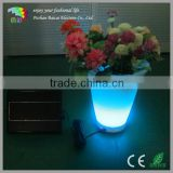 energy saving battery rechargeable RGB color outdoor led flower pot/led light flower pot/LED illuminated flower vase