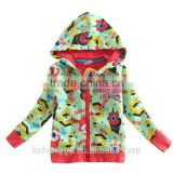 2-6Y (A3411) Nova kids two colors ready stock 100% cotton kids boys hoodies baby winter coats with zipper novakids wear winter