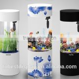 Excellent cylinder acrylic fish aquarium,cylinder acrylic aquarium,large acrylic fish tank with logo