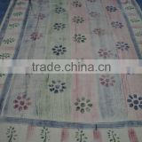 Tie & dye printed pattern bed-sheets / 100% powerloom cotton fabric / Hand-block printed bed-covers