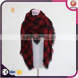 wholesale fashion blanket scarf oversized tartan scarfs winter warm scarves plaid scarf red black