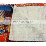 RTHKG-69 Printed Vintage Patchwork Kantha Bedspread For Children's Manufactrers