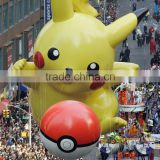 LED Giant inflatable pikachu toy with rope for promotion