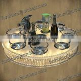 Shanghai wedding banquet and decoration Lazy Susan spinner table
