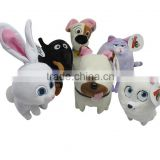 Promotional stuffed plush toys cut dog rabbit hot sale the secret life of pets Secret Life of Pets spotted dog Max Duke Snowball