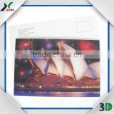 High quality good price Colorful PET/PP 3D lenticular postcard