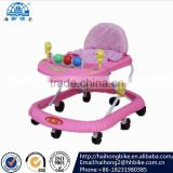 Beautiful design 8 wheels plastic OEM baby walker with music and many toys,baby carrier baby walker