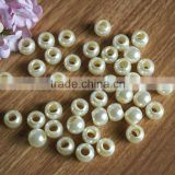 new arrival fancy round big hole loose pearl imitation beads for fashion necklace earring