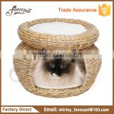 100% natural Multi-Level banana leaf cave Indoor Cat Bed