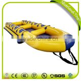 Hot Selling NEVERLAND TOYS High Quality Funny Floating Pontoon Boat Yellow Zodiac Boat Inflatable Water Sports For Sale