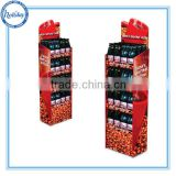 Point of sale gas station cute design cardboard display for food, supermarket store food shelf