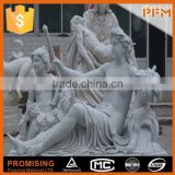 China factory price natural stone hand-craved wall marble sculpture