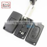 High Quatity Citroen romote flip key shell 2 button 307 blank With battery place 0536 Citroen key cover