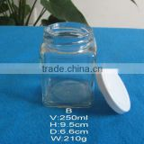 square glass container, clear glass mason jar