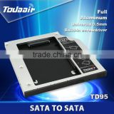 external hard drive networking wholesale alibaba Universal laptop HDD Hard Drive Caddy SATA 9.5mm with screwdriver