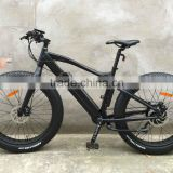 Carbon look fat electric bike with suspension fork 36V 13ah lithium battery samsung cells