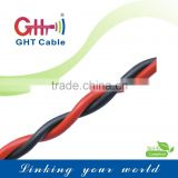 Twins in bulk stranded transparent speaker cable red & black