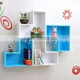 white/blue/black/red wooden cube shelf /bookcases