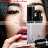 Private label custom elegance cosmetic emtpy lipgloss case lip gloss bottle , custom plastic lip gloss containers