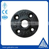 1/2 inch 3/4 inch 1 inch black cast iron flange and galvanized pipe fitting floor flange