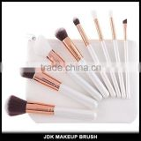 Private Label Graceful White handle Makeup brushes Face Rose gold travel makeup brush 8pcs set with makeup case