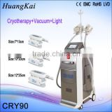 2015 Popular Cryo therapy Vacuum Cool tech fat freezing machine with 3 cryo handles weight loss