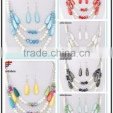 No.1 yiwu & ningbo exporting commission agent wanted stone beads necklace earrings jewelery set