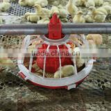 poultry broiler and breeder feeder and drinker system with plastic flooring slats system