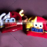 Red color graceful kids wool felt hat with eco-friendly material, new products of HuongDang Handicraft