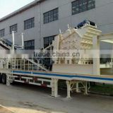 Hongji high fine mobile crusher Rock crusher machine mobile crushing plant 1 year Guarantee