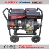 5kw 6kva 50HZ 60HZ Open Type Air Cooled Three Phase Electrical start Diesel Generator with ATS