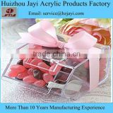 Wholesale custom acrylic plastic transparent chocolate candy gift packaging storage box with lids
