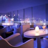 Restaurant hotel used led light up egg shaped table lamp / 16 color available rechargeable led table lamp light