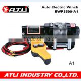 Atli Auto wrench Mini 12v electric winch with 3500LBS Electric winch supplier in China