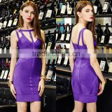 2016 Europe style fashion bandage dress sexy sleeveless bodycon cocktail dress custom western woman dress
