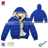 men fashion blue nylon jacket with hood