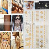 Custom Body Art Removable Waterproof Metallic Face Mask Temporary Tattoo Sticker