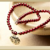 Wine red garnet Anklet Folk style summer Hongsheng silver jewelry anklets,Woman fresh and simple